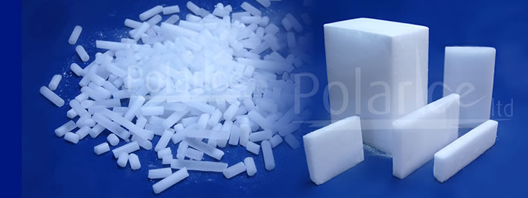 Dry Ice Pellets, Slices, and Blocks