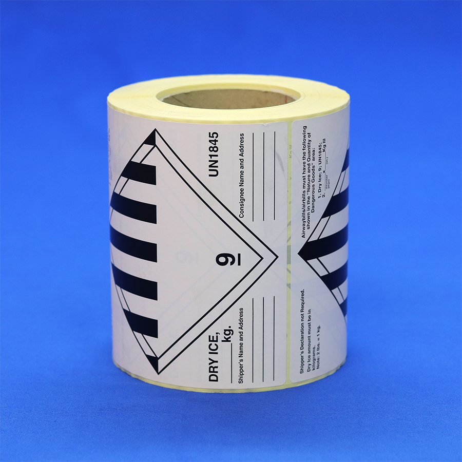 Class 9 Un1845 Dry Ice Label Roll 500