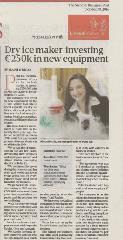 Dry Ice maker investing 250k in new equipment