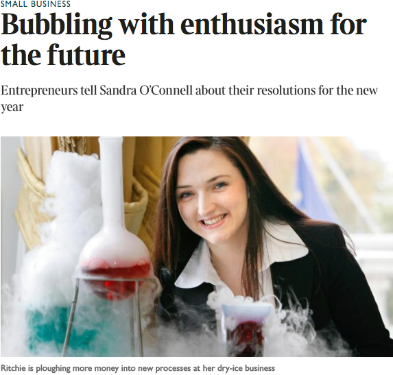Bubbling with enthusiasm for the future