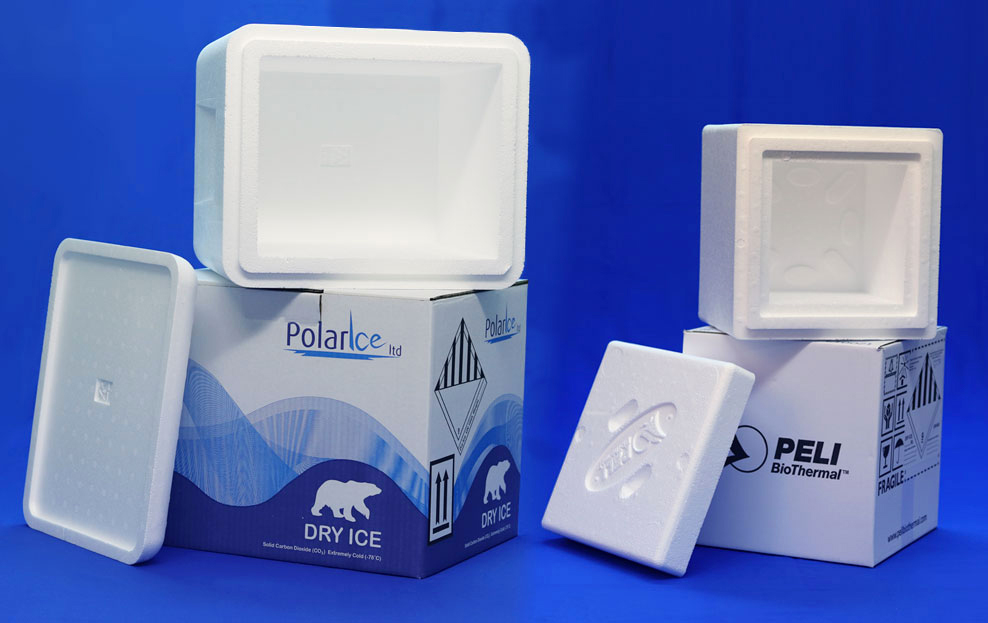 Insulated Dry Ice Storage Cartons