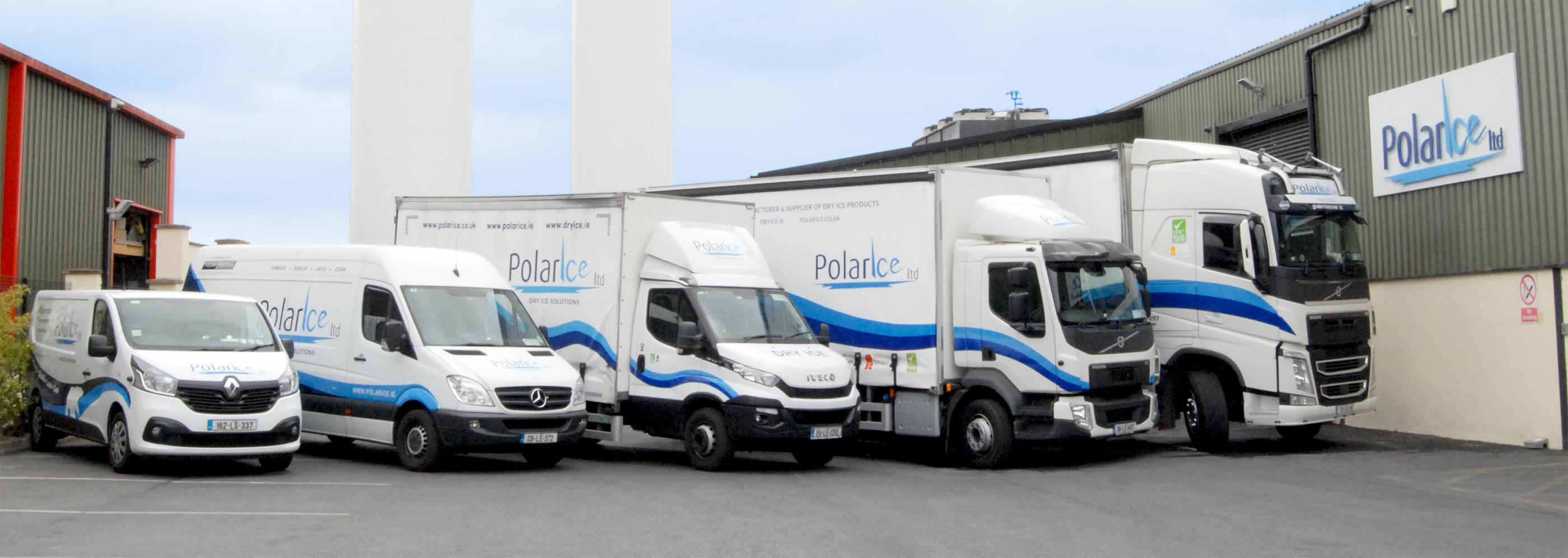 Polar Ice Fleet of Transport Vehicles