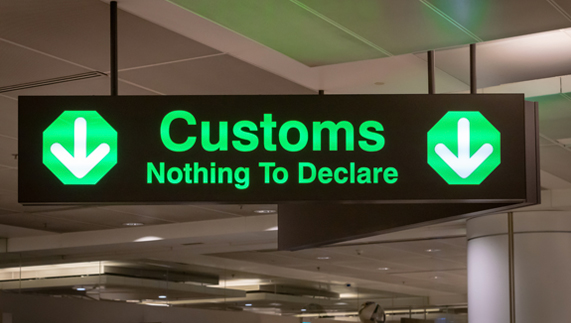 Airport Customs Sign