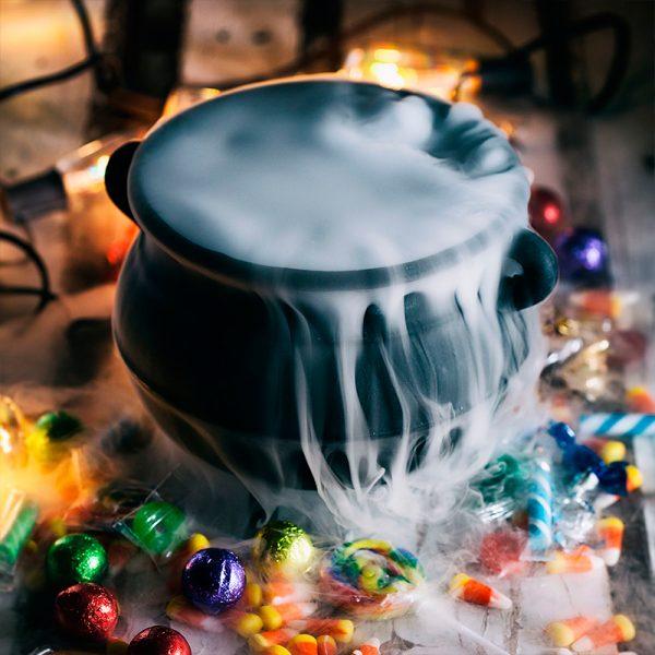 Dry Ice Fog Effect in Cauldron